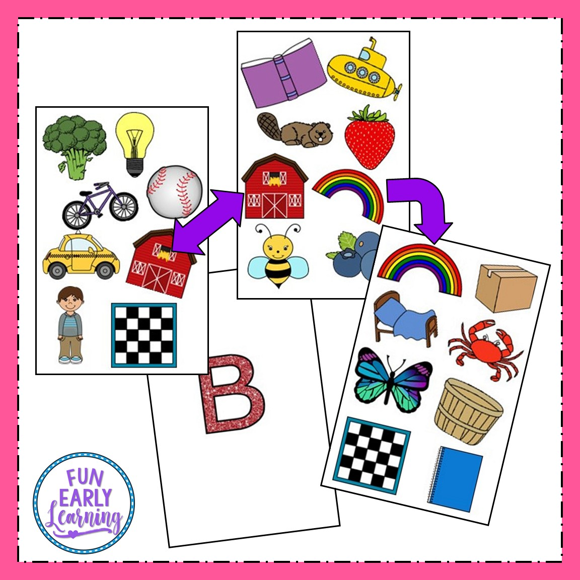Matching Mission B Sound Articulation Game For Speech Therapy