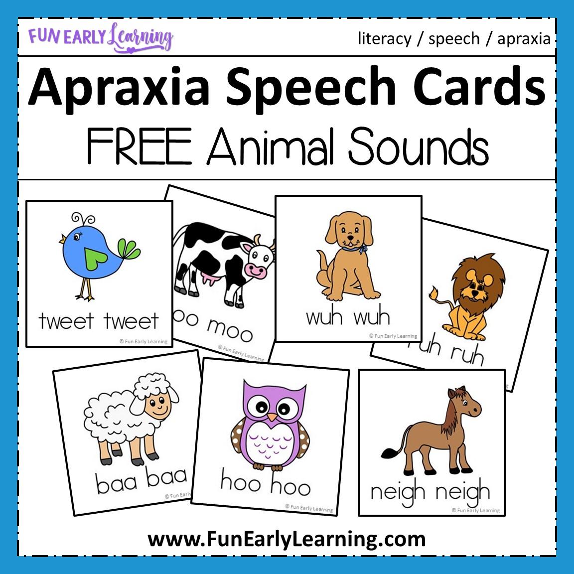 Apraxia Speech Cards