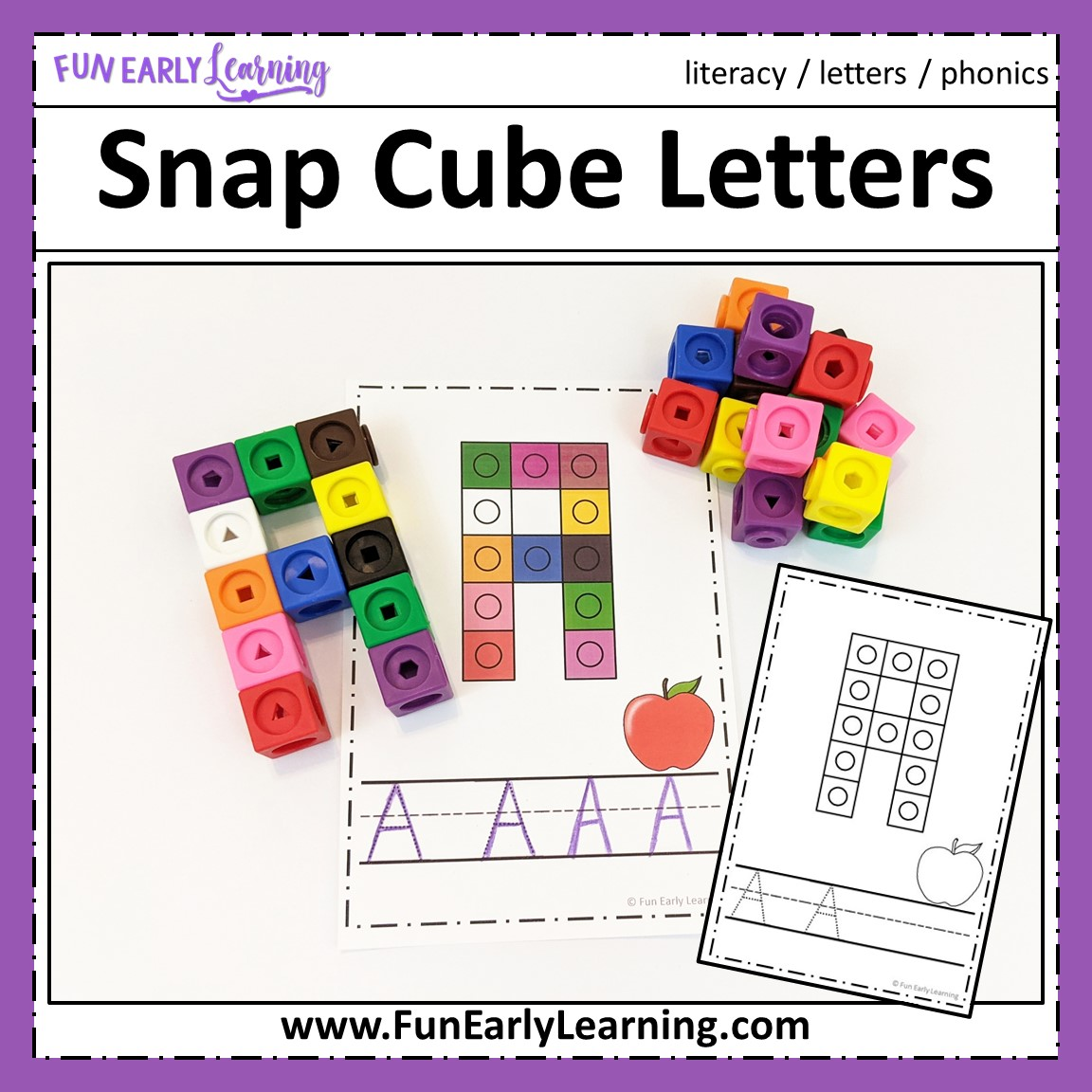 Snap Cube Letters