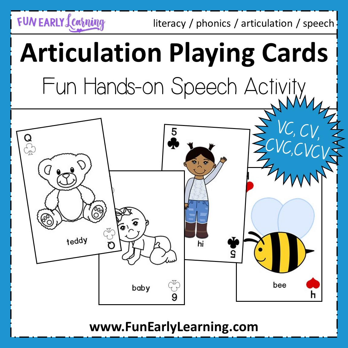 Articulation Playing Cards For Apraxia