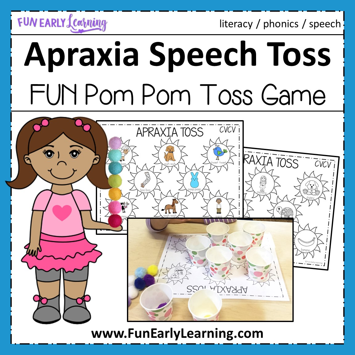 Apraxia Speech Toss For Cv Cvc And Cvcv Words