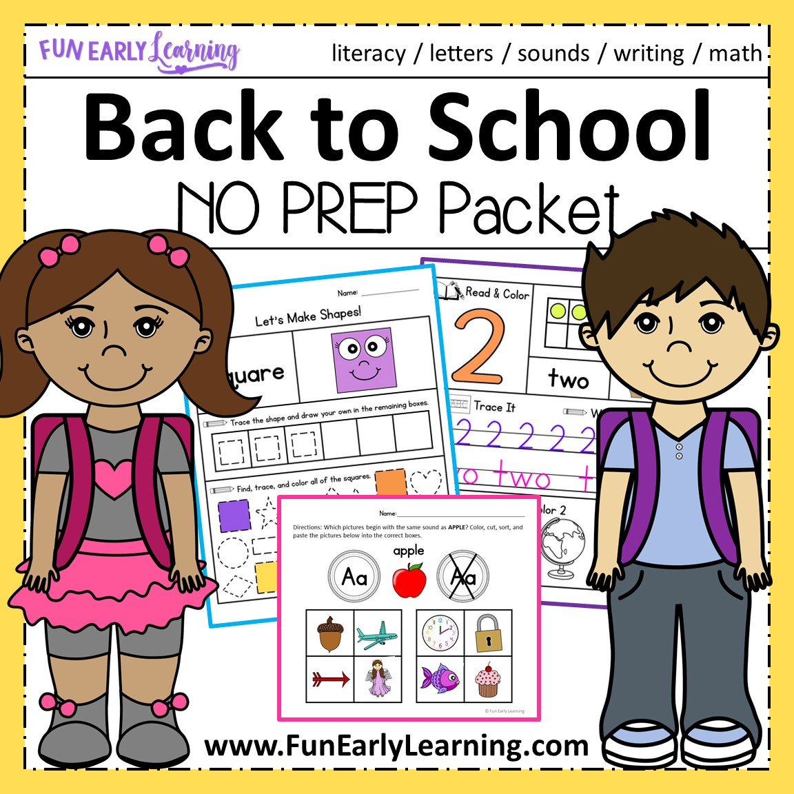 Back To School Math And Literacy Activities For Preschool