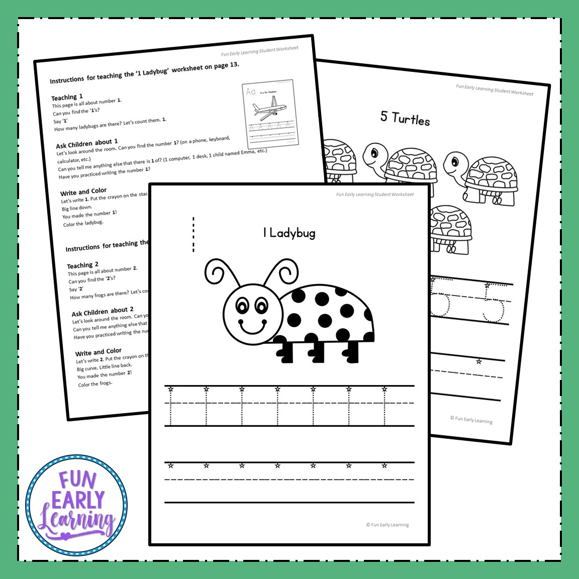 Numbers 1 20 Worksheets With Guided Lessons For Prek And Kinder