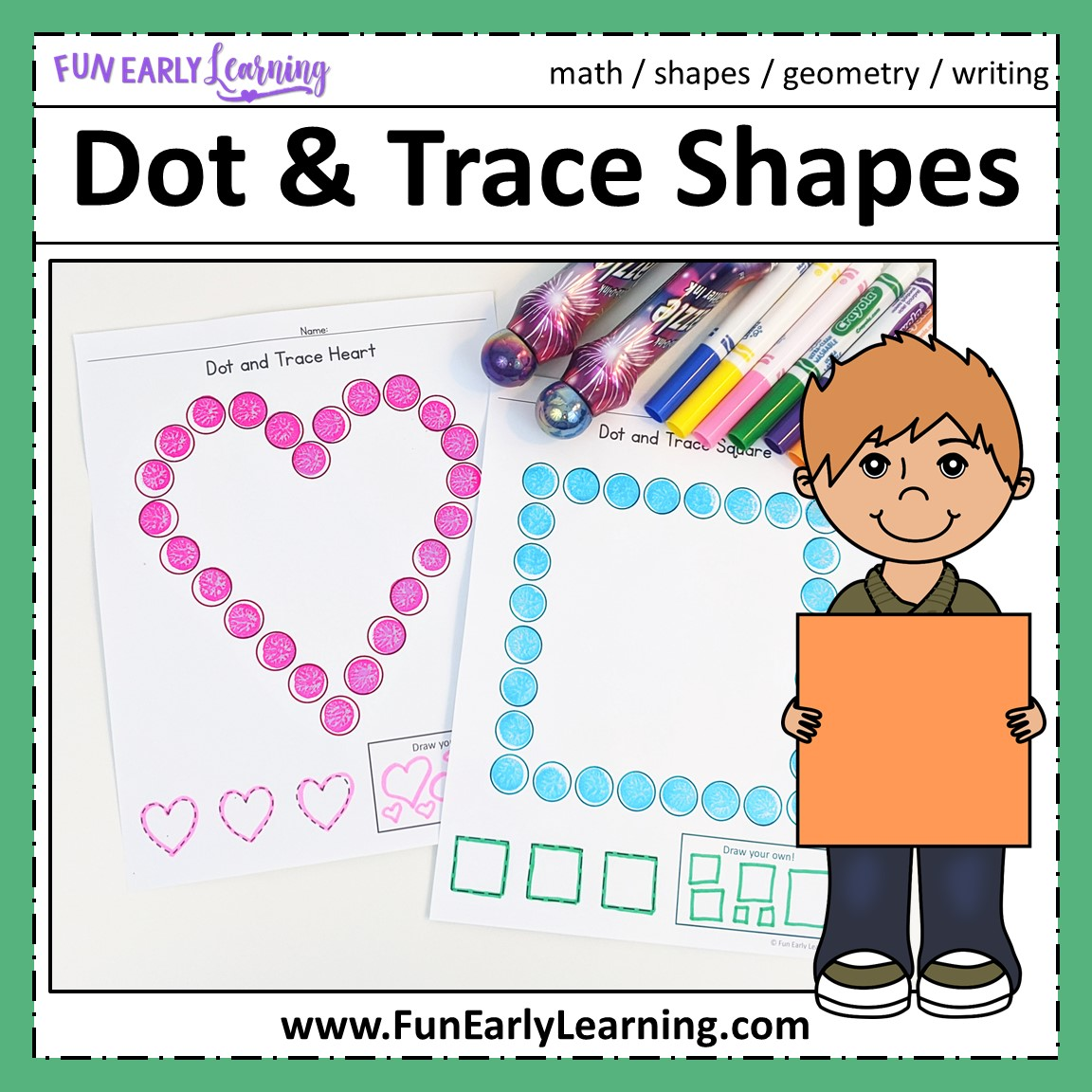 Dot And Trace Bundle For Letters Numbers And Shapes