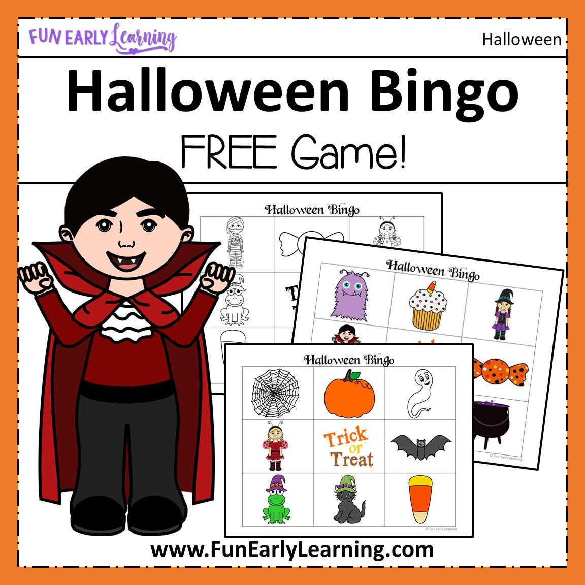 Halloween Bingo Free Printable For Preschool And Kindergarten