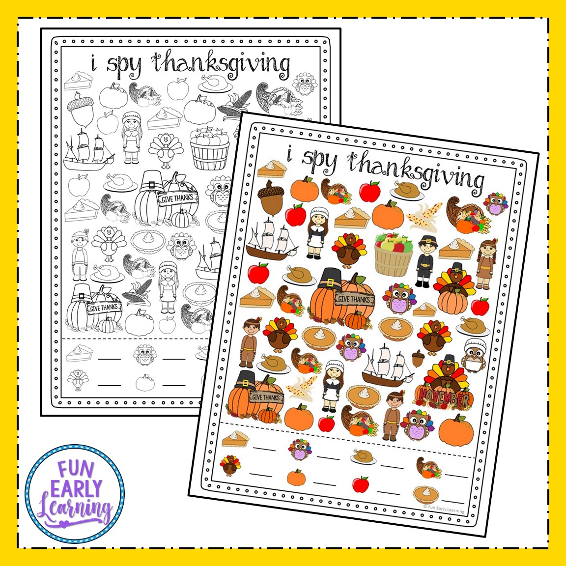 I Spy Thanksgiving Fun Hands On Free Printable For Kids