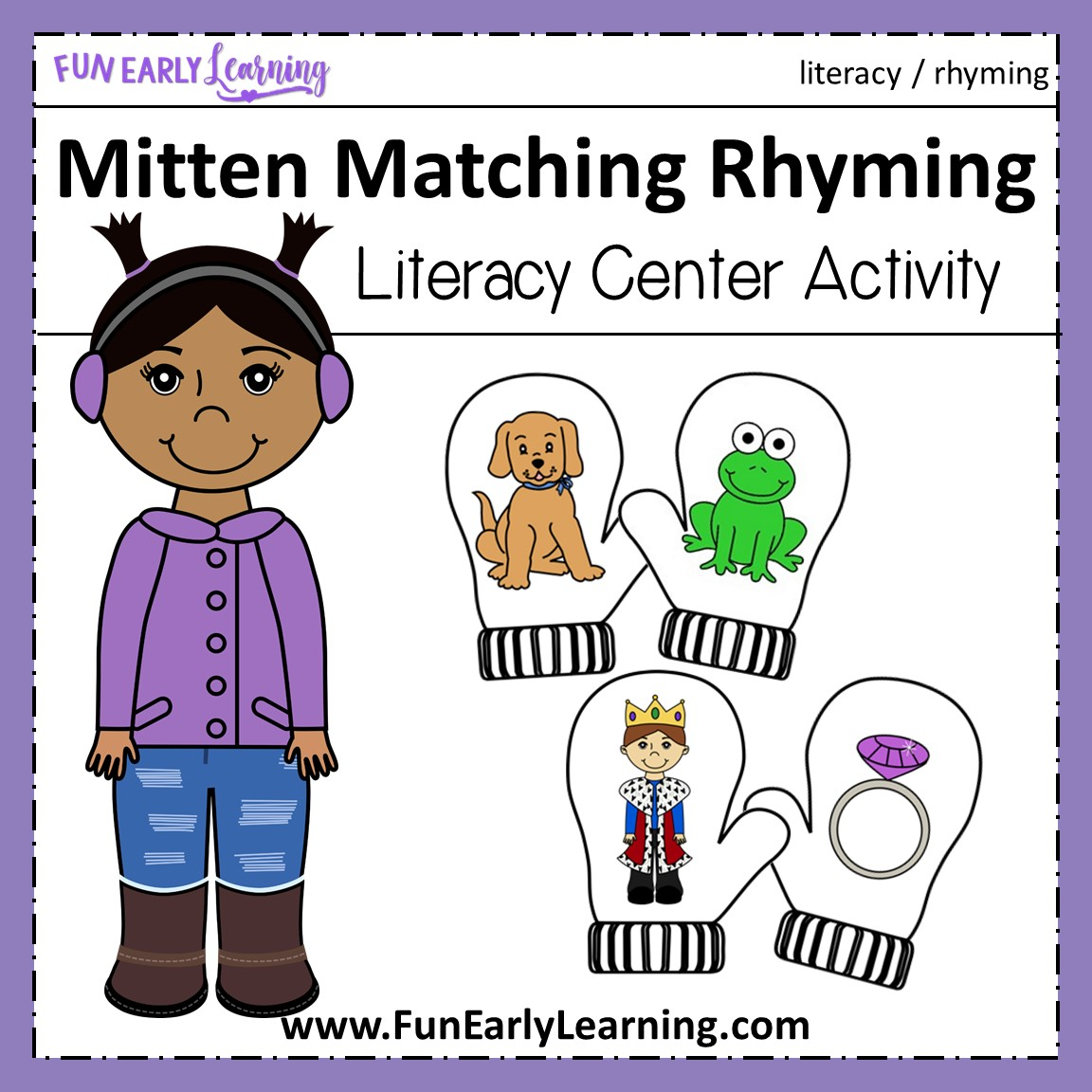 Matching Worksheet Preschool Rhyming