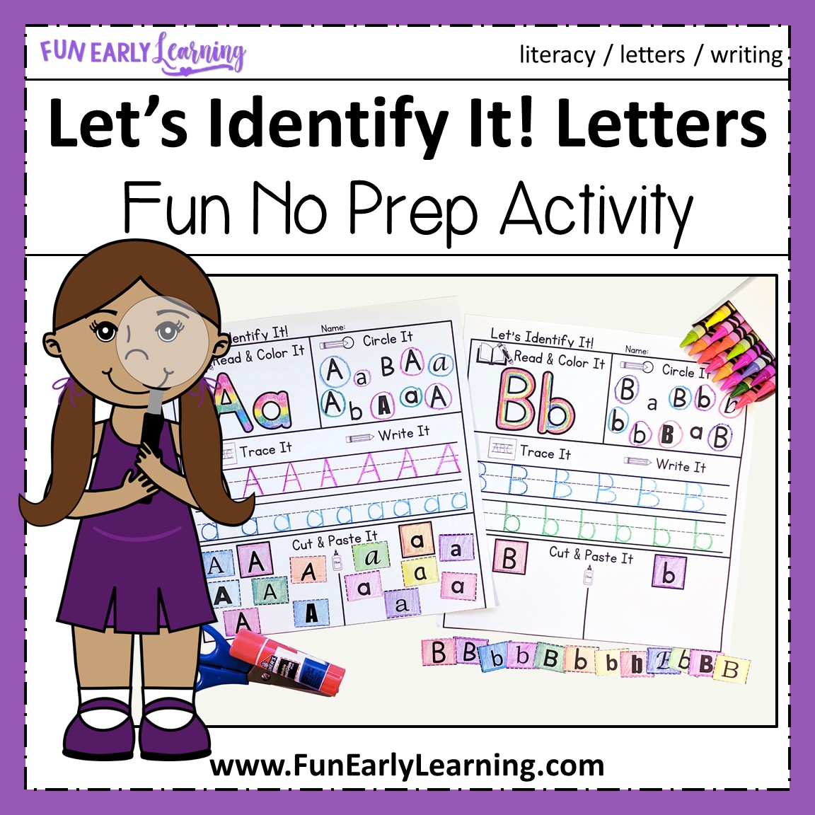 Let S Identify It Letter Recognition Activities For