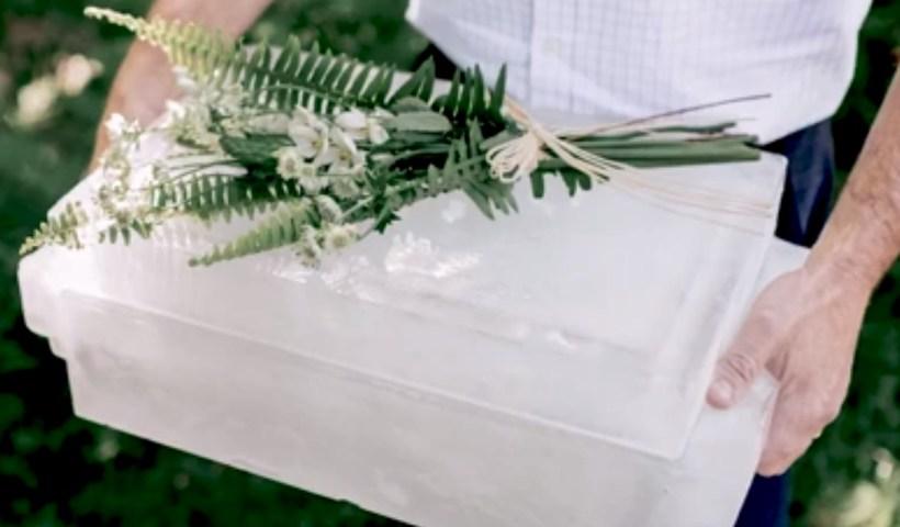 Cendre dans urne glacée