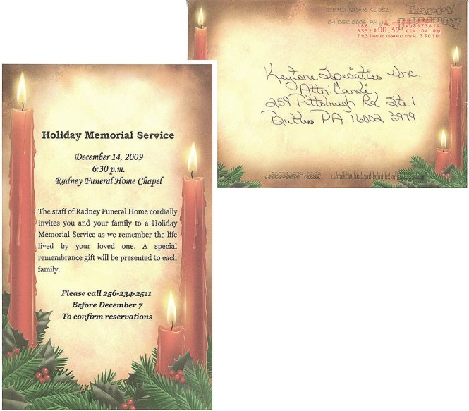 Memorial Invitation Cards – Funeral Reception Invitation
