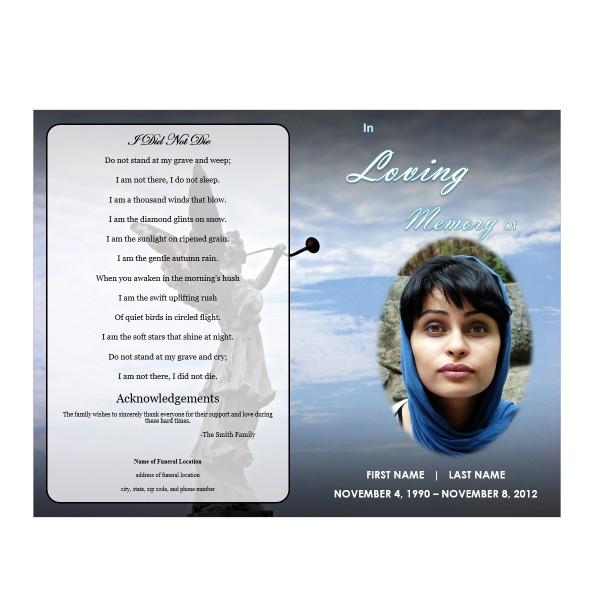 Angel Memorial Program Funeral Pamphlets