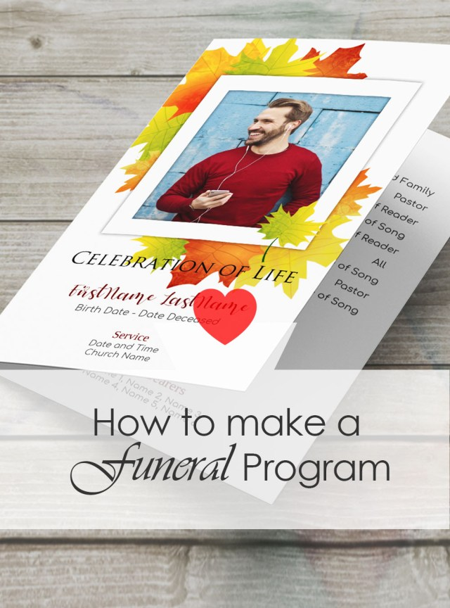 How to Make a Memorial Service Program or Funeral Booklet