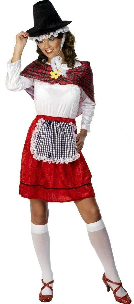 Welsh Traditional Lady Fancy Dress Costume Ladies Cultures