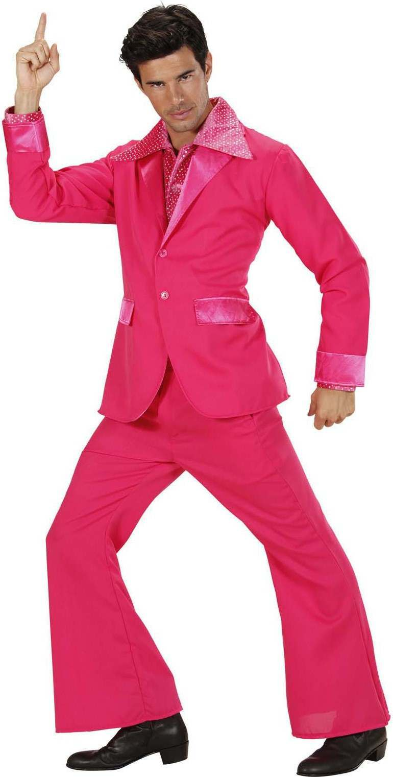 Mens Pink Party Suits Jacket Pants Disco Outfit Pink