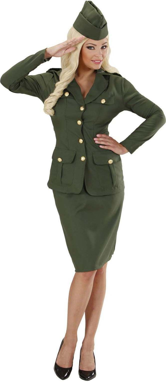 Buy Ladies Ww2 Soldier Girl Jacket Skirt Hat Army