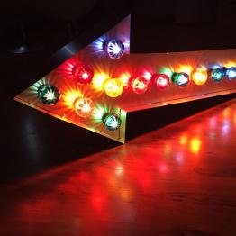 pijl lamp gekleurd