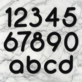 Huisnummer rounded zwart