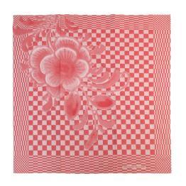 tea towel red design big flower