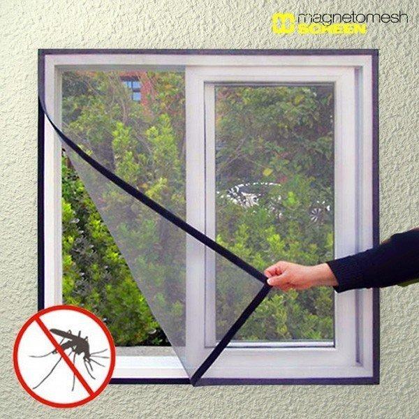Myggnät fönster kardborre