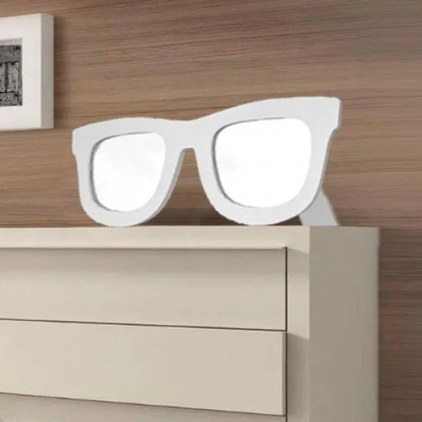 Solglasögon Spegel Vit