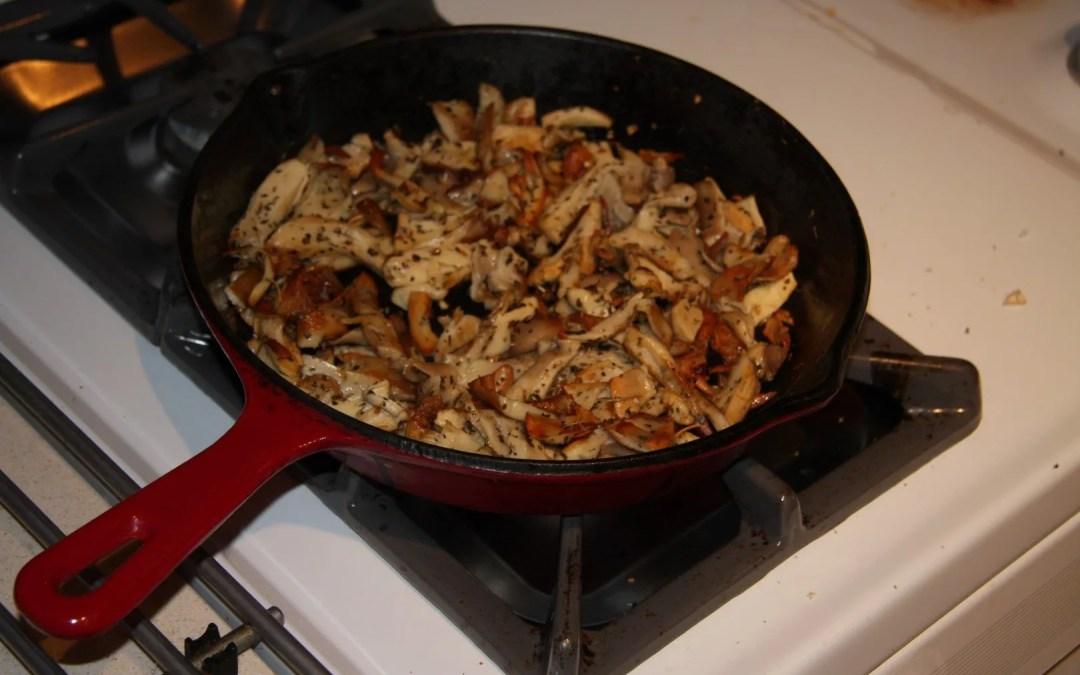 Pan Fried Phoenix Oyster Mushrooms