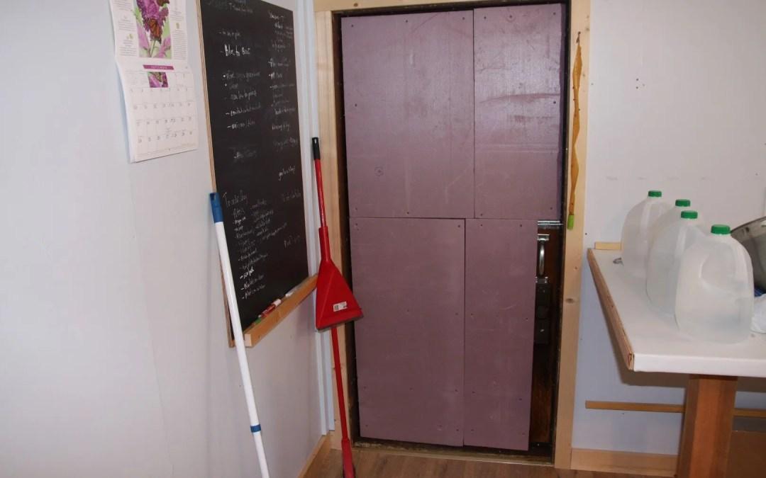 Lab door