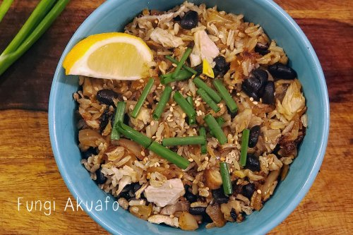 Mushrooms and wild rice