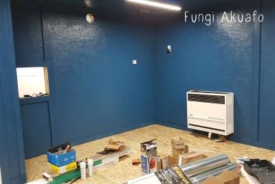 Blue room heater