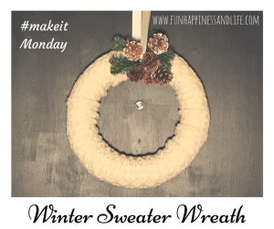 This Sweater Wreath for your winter decor is an easy DIY that you can make with upcycled material.