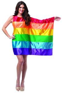 Disfraz de bandera del orgullo gay para mujer
