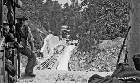 Funiculaire de La Chaumière à Luchon vers 1910