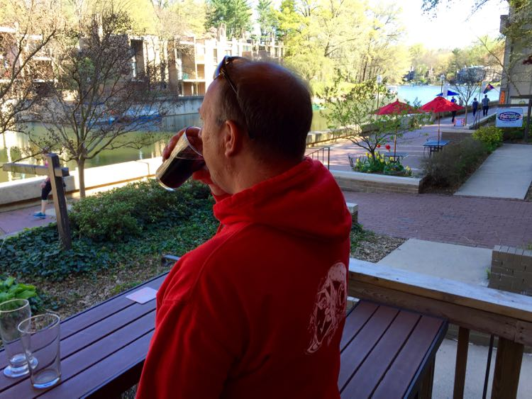 Lake Anne Brew House patio view Reston