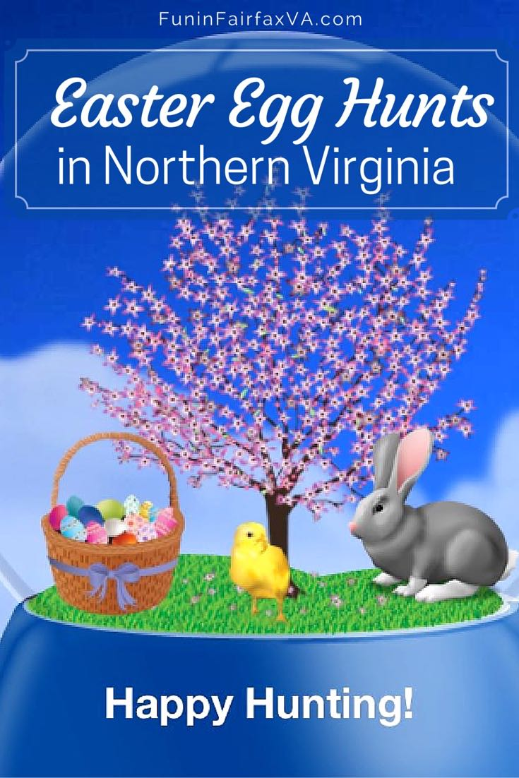 Bookmark our great, big round-up of 2017 Easter Egg Hunts for family-friendly celebrations of spring in Northern Virginia parks, farms, zoos, towns, and malls.