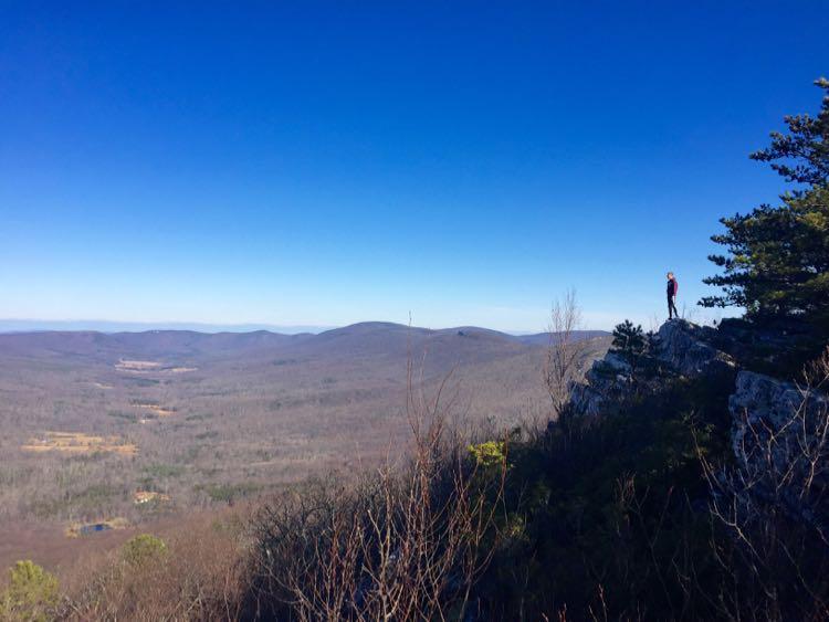 Enjoying summit views Tibbet Knob hike
