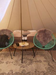 Godt utstyrt telt