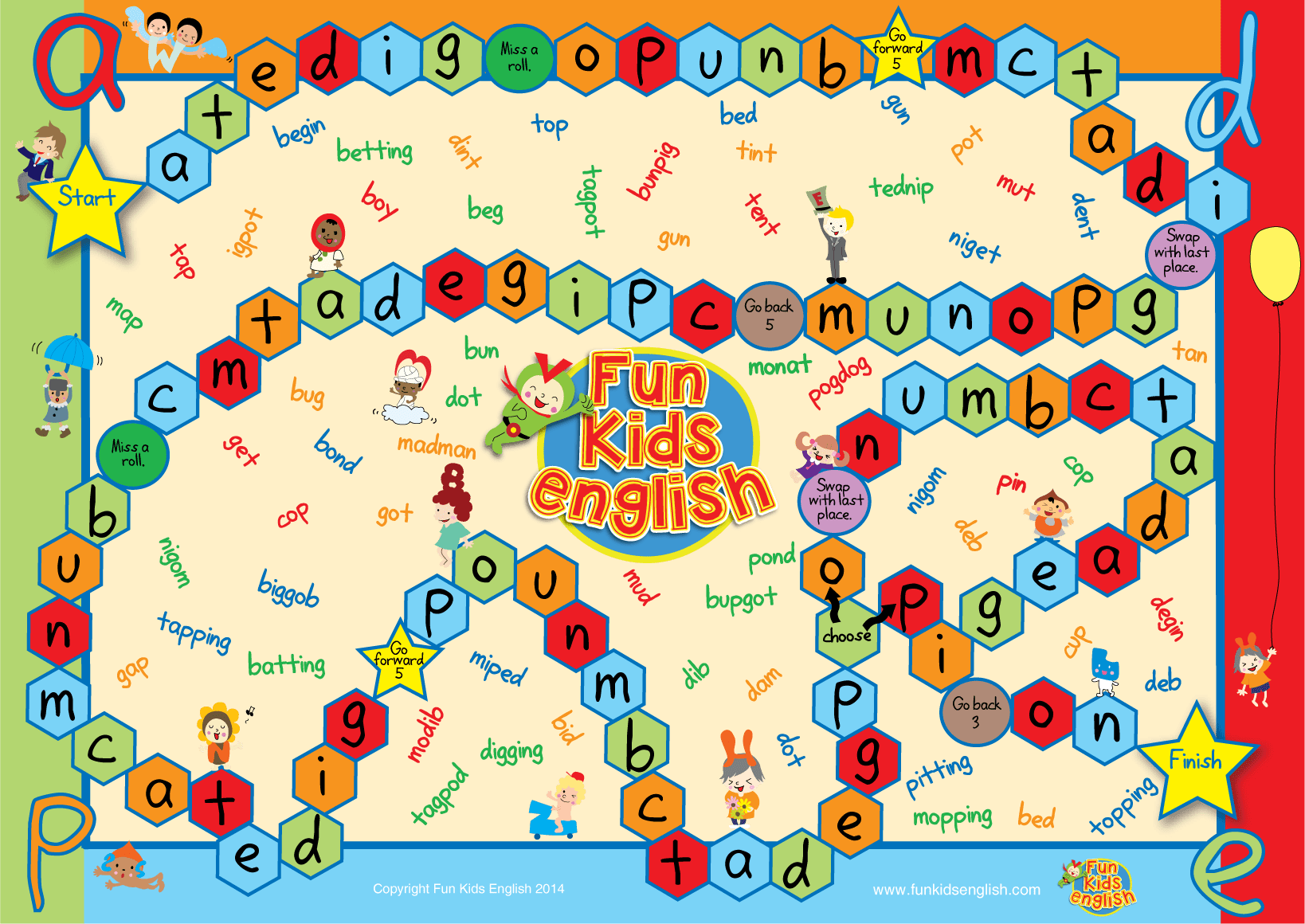 Printable Alphabet Board