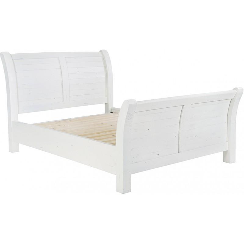 distressed white king size bed frame kingston