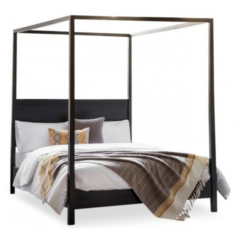 Kingsize 4 Poster Bed Solid Mango Wood Laggan