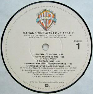 Marc Sadane One Way Love Affair label a