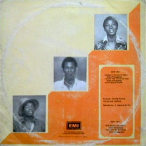 The Black Hippies 1977 back