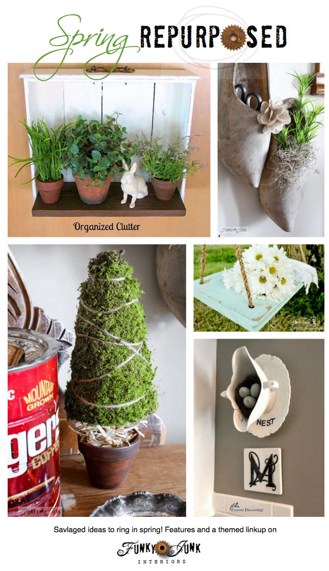 Spring Decor Repurposed From Old Junk To Spring Funk
