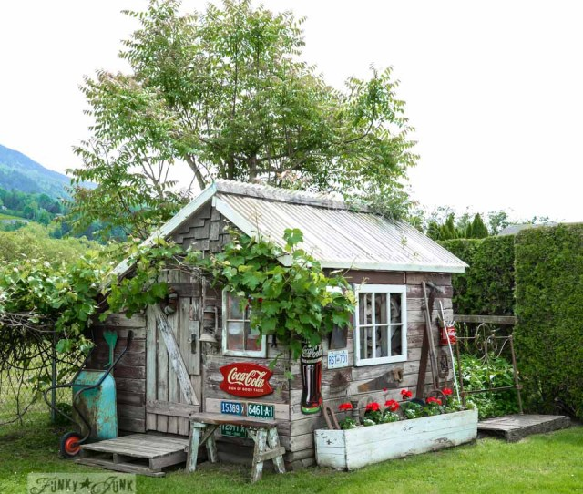 Rustic Garden Shed From Fence Boards Via Funkyjunkinteriors Net