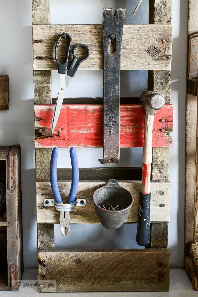 Pallet Hammer Organizer For The Workshopfunky Junk Interiors