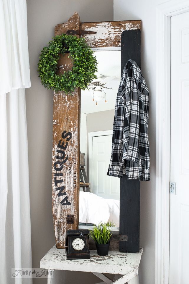 How To Make A Reclaimed Wood Antiques Hall Tree MirrorFunky Junk Interiors