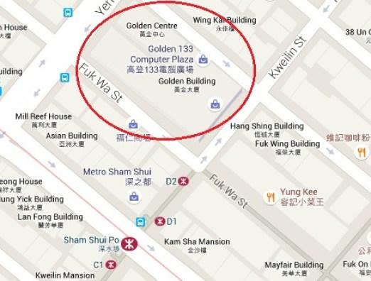golden center map