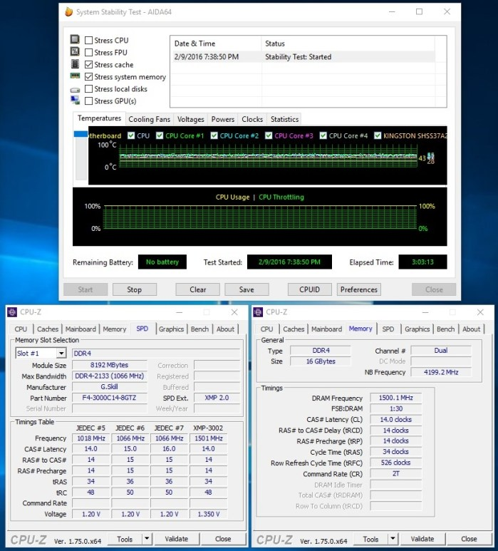 GSkill TridentZ 16GB 3000C14 stab