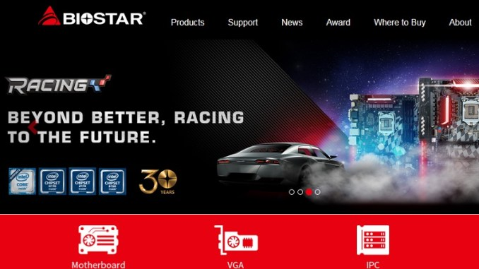 BIOSTAR Racing To The Future With New & Improved Website