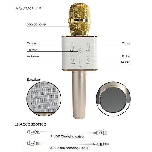 TuXun Q7 Wireless Karaoke Microphone - FunkyKit