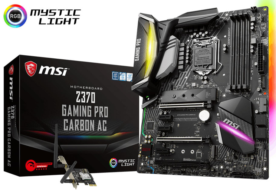 MSI Z370 Gaming Pro Carbon AC and Z370 GODLIKE Gaming