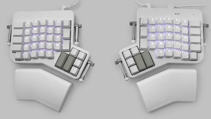 ErgoDox EZ Introduces the Glow: An RGB Backlit, Pre